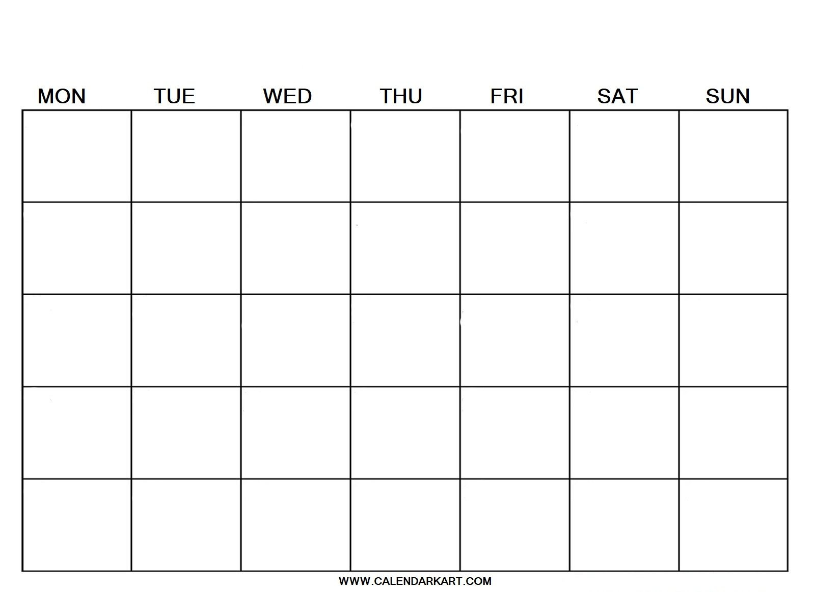 10 free printable blank calendar templates {fillable pdf