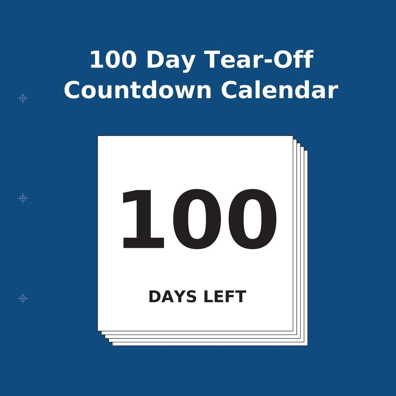 100 day tear off countdown calendar (paperback)(large print) walmart