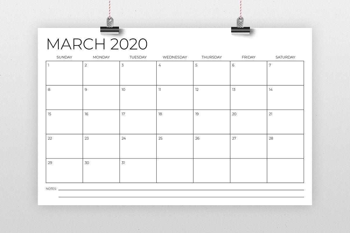 11 x 17 inch modern 2020 calendar in 2020 | calendar
