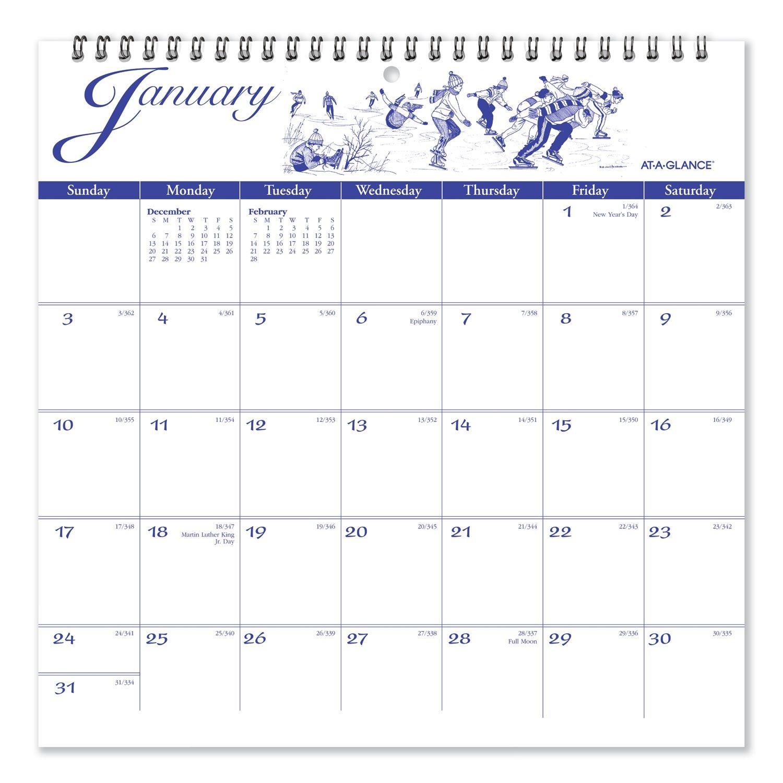 12 month illustrator's edition wall calendar, 12 x 12, illustrations, 2021