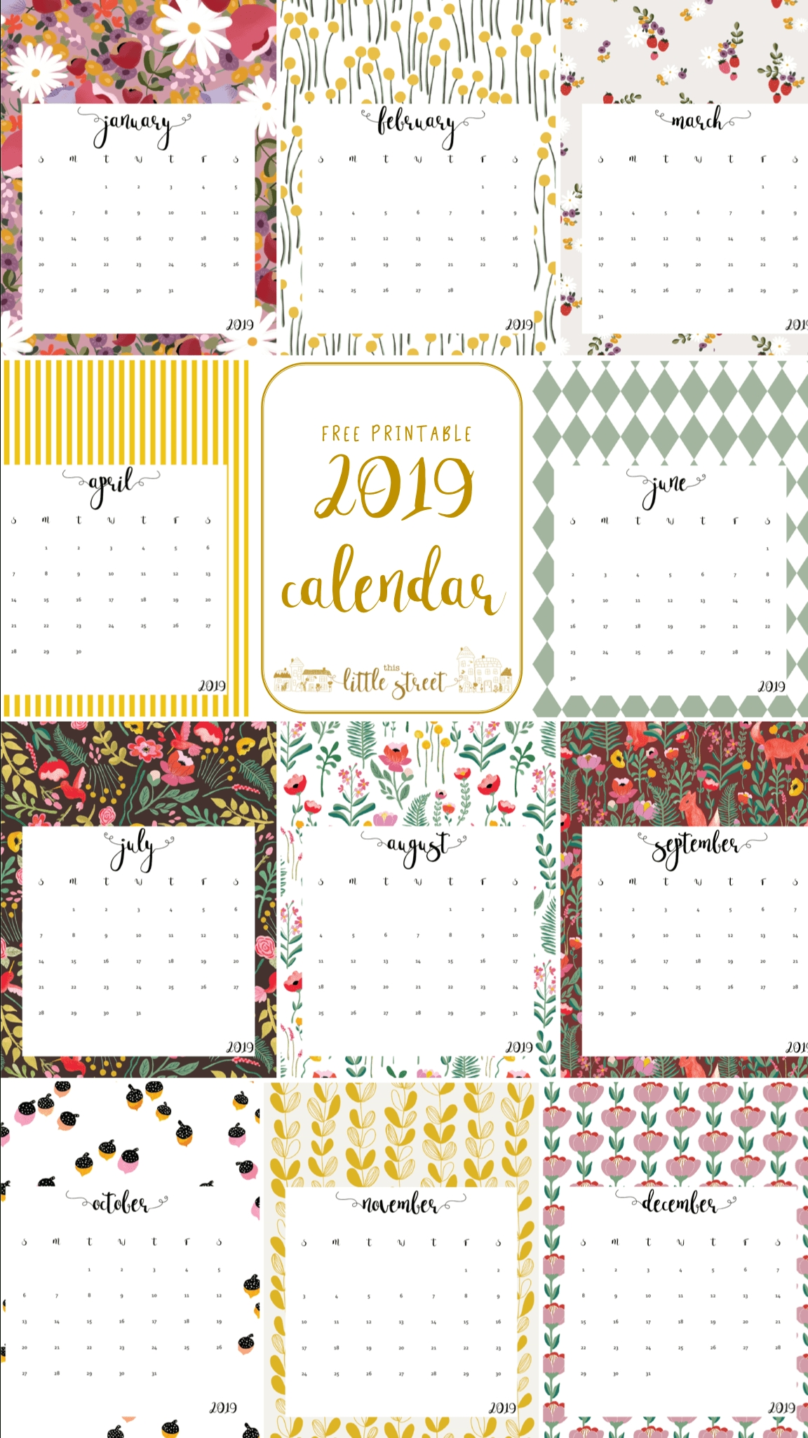 20 Free Printable Calendars For 2020 Yesmissy | Free