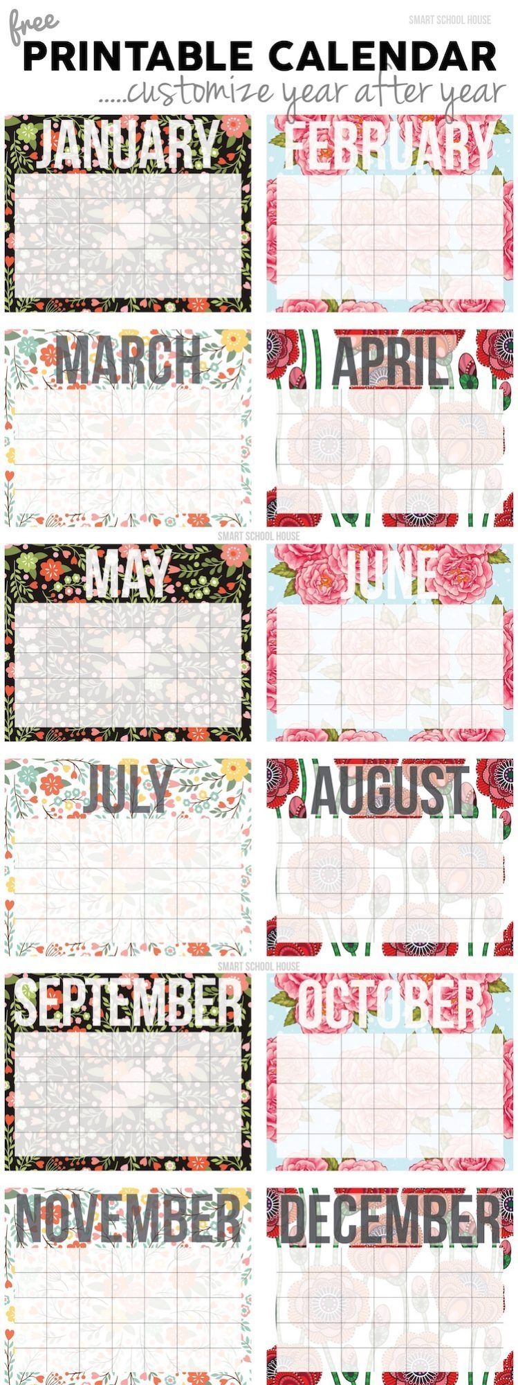 20 Free Printable Calendars For 2020 Yesmissy