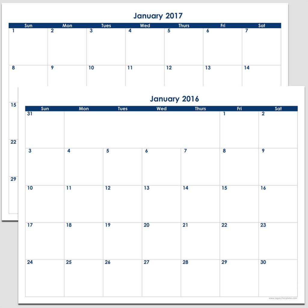 """2016 & 2017 24 month landscape calendar 8 1/2"""" x 11"""