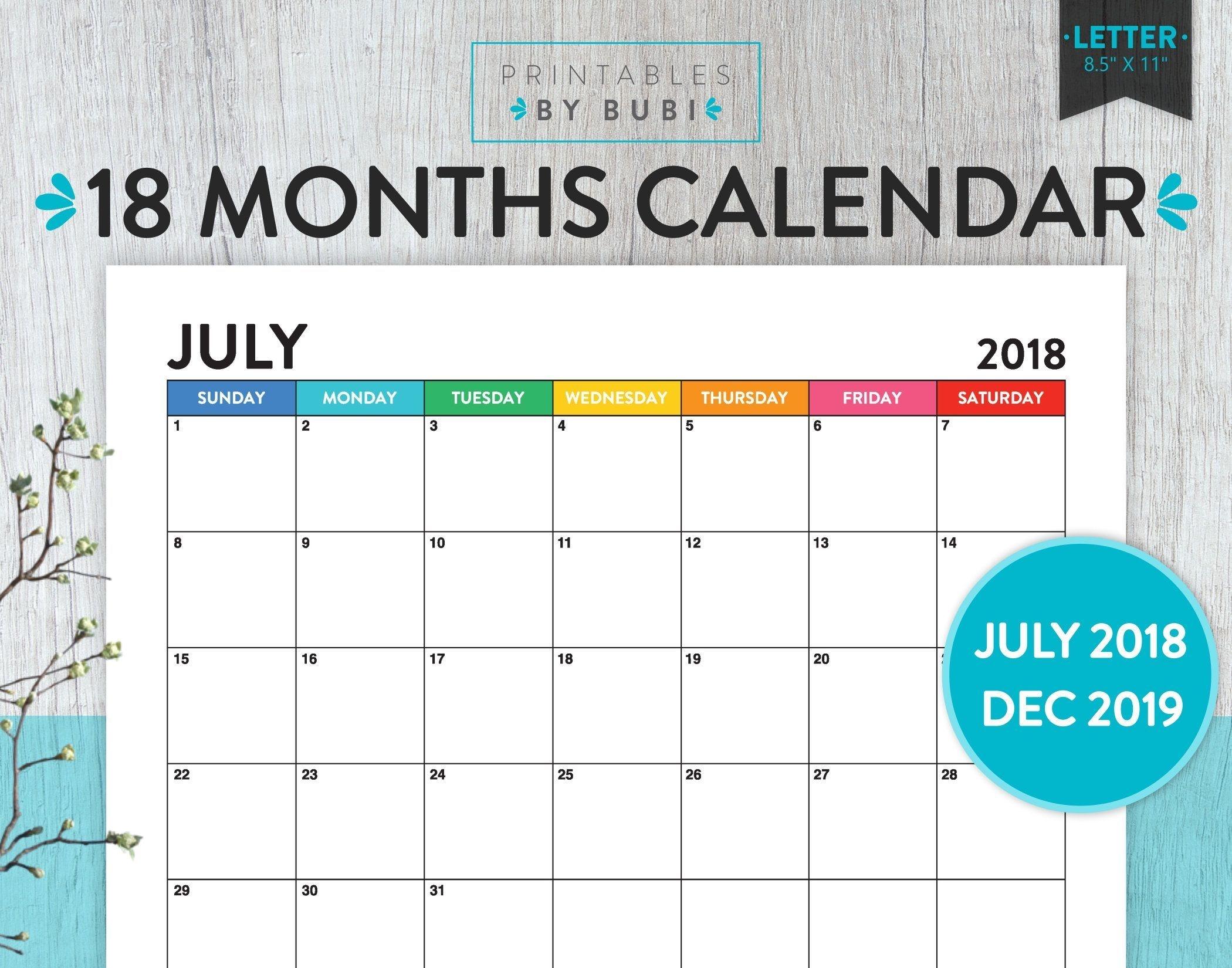 2018 2019 calendar printable, 2018 2019 printable