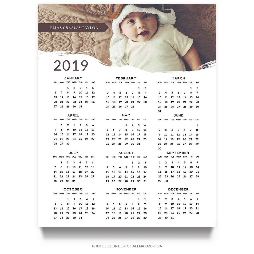2019 calendar template (8x10)