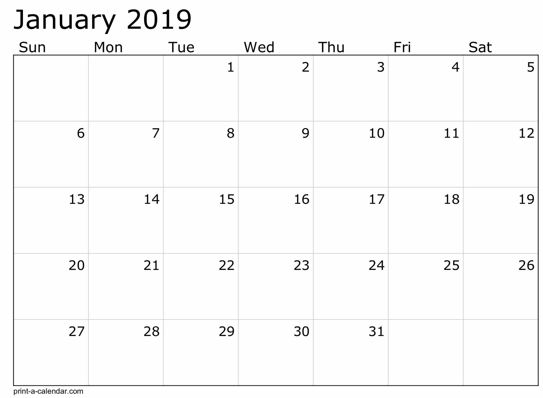 2019 Free Printable Calendar Templates A Mother's Random