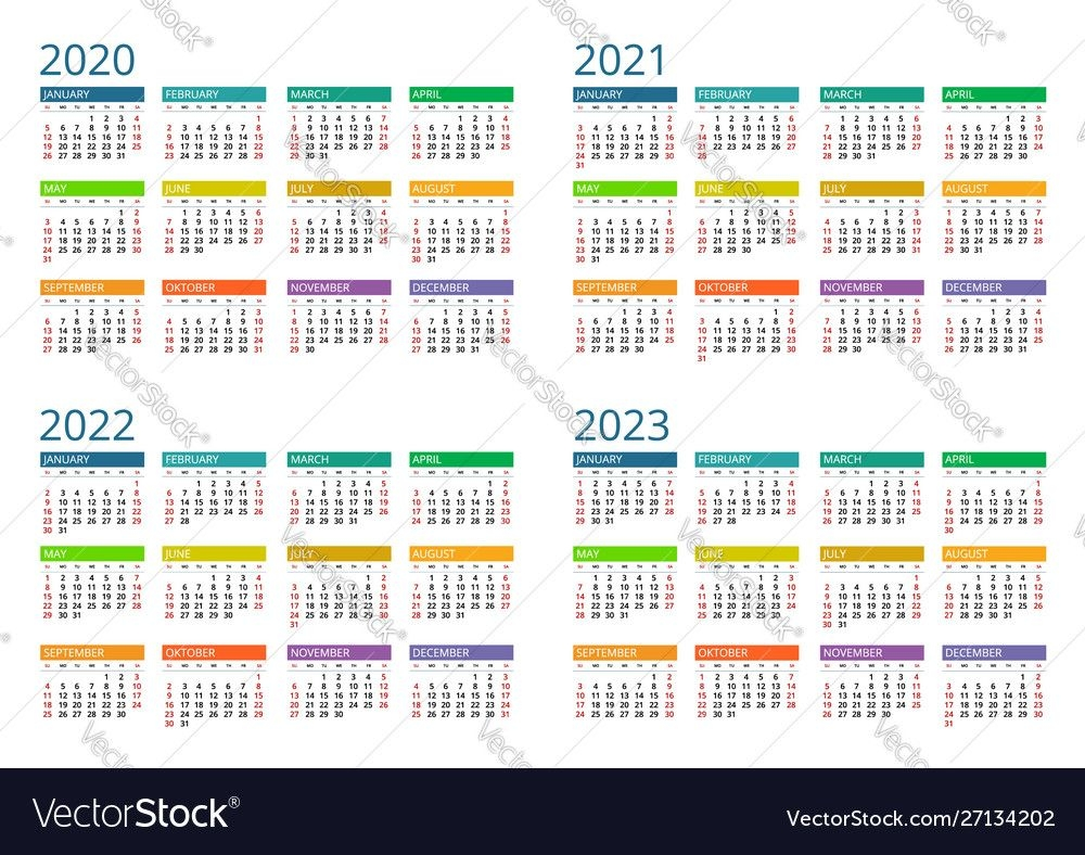2020 2021 2022 2023 calendar print template