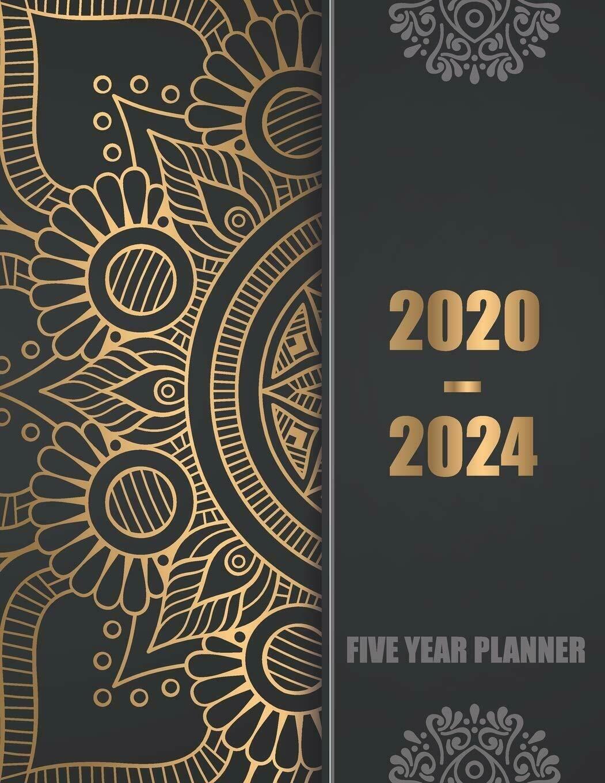 2020 2024 Five Year Planner: 60 Months Calendar, 5 Year Appointment Calendar, Bu
