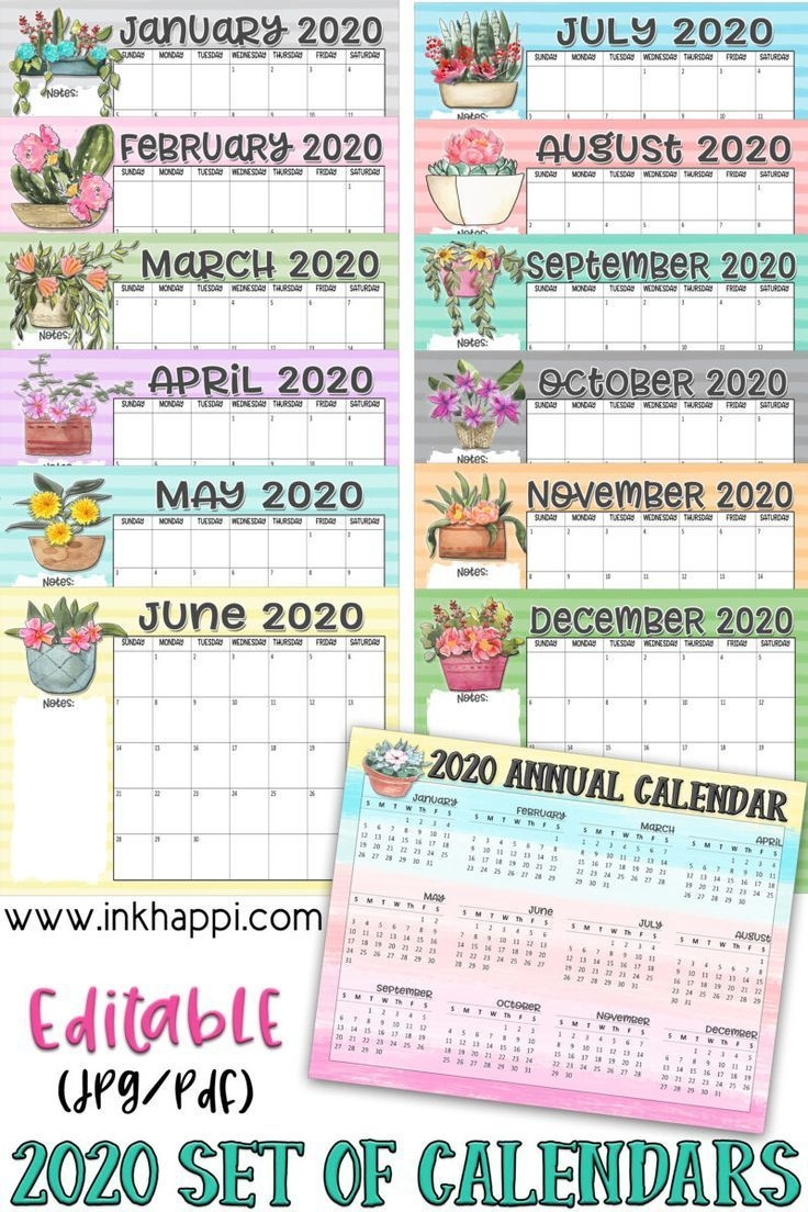 2020 Annual Calendars Let The Countdown Begin! Inkhappi