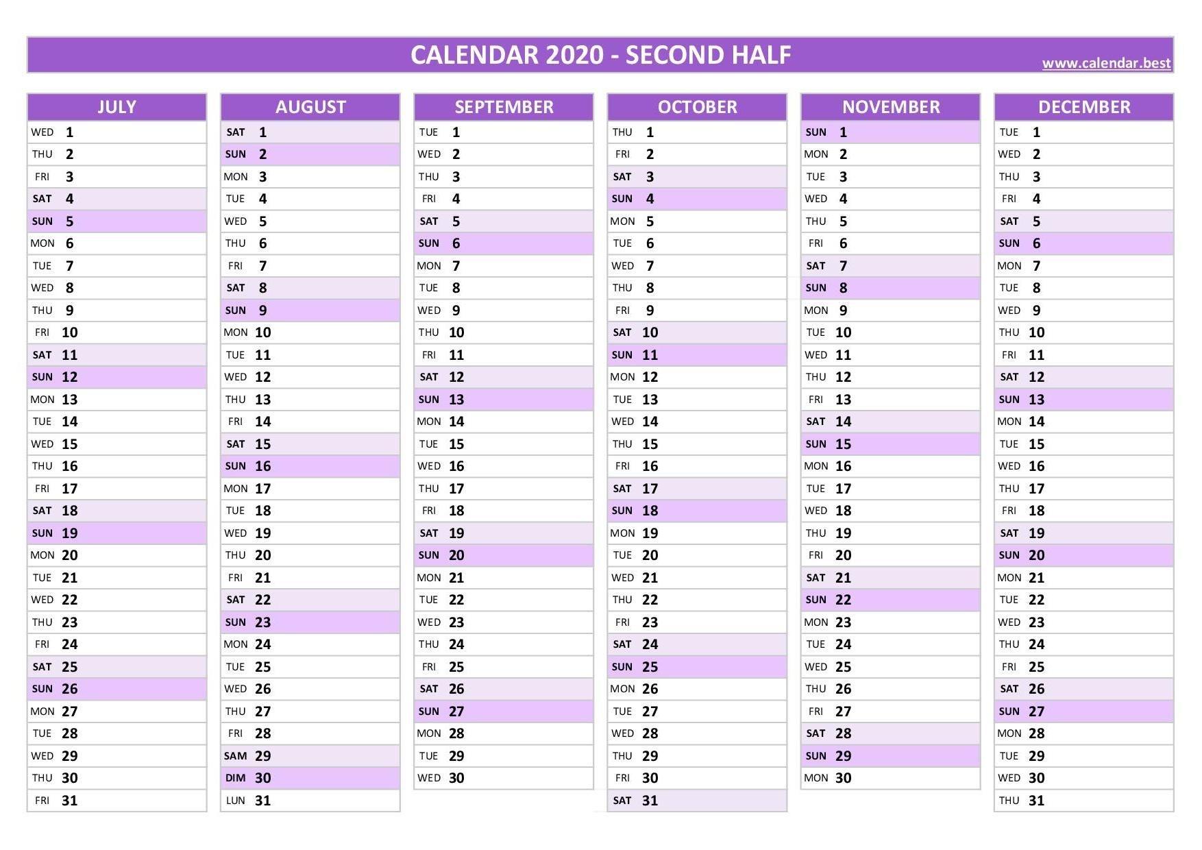 2020 Calendar Calendar Best