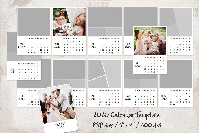 2020 calendar template 5x7