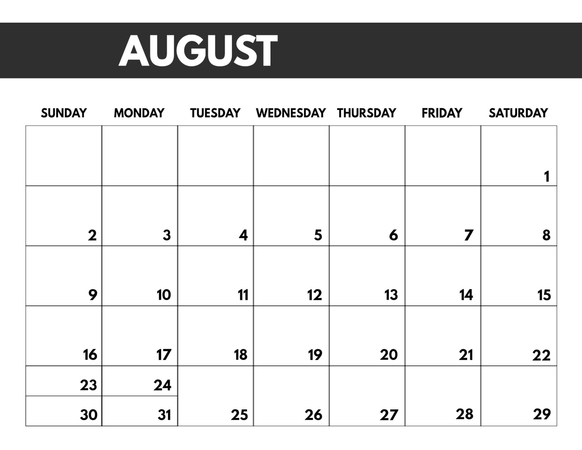 2020 free monthly calendar template | paper trail design
