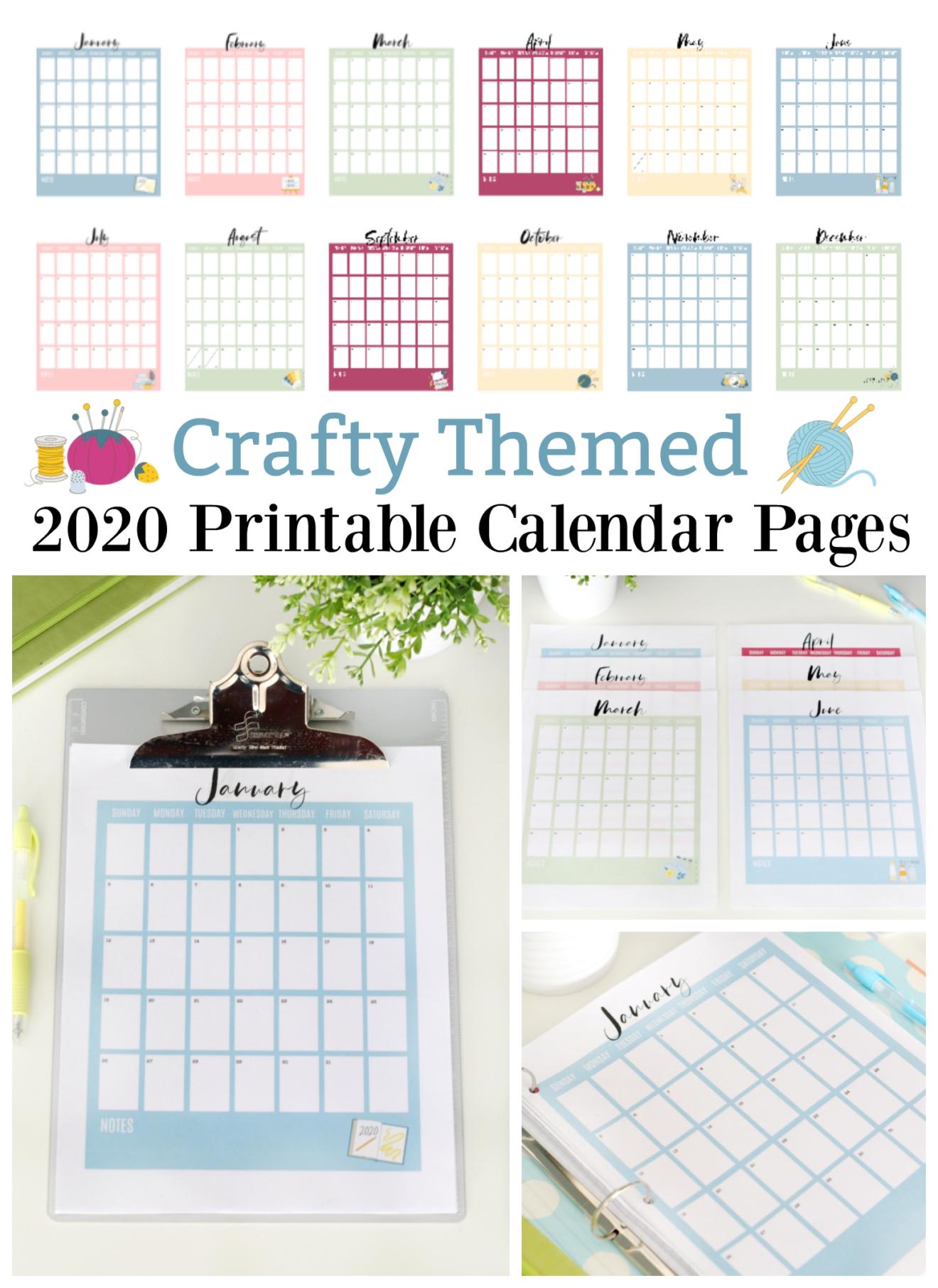 2020 Printable Calendar Pages (free!)   Printable Calendar
