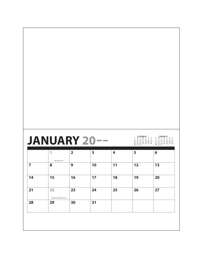 "2021 13 Month Custom Mini Wall Calendar, Stapled | 5 5""x8 5"