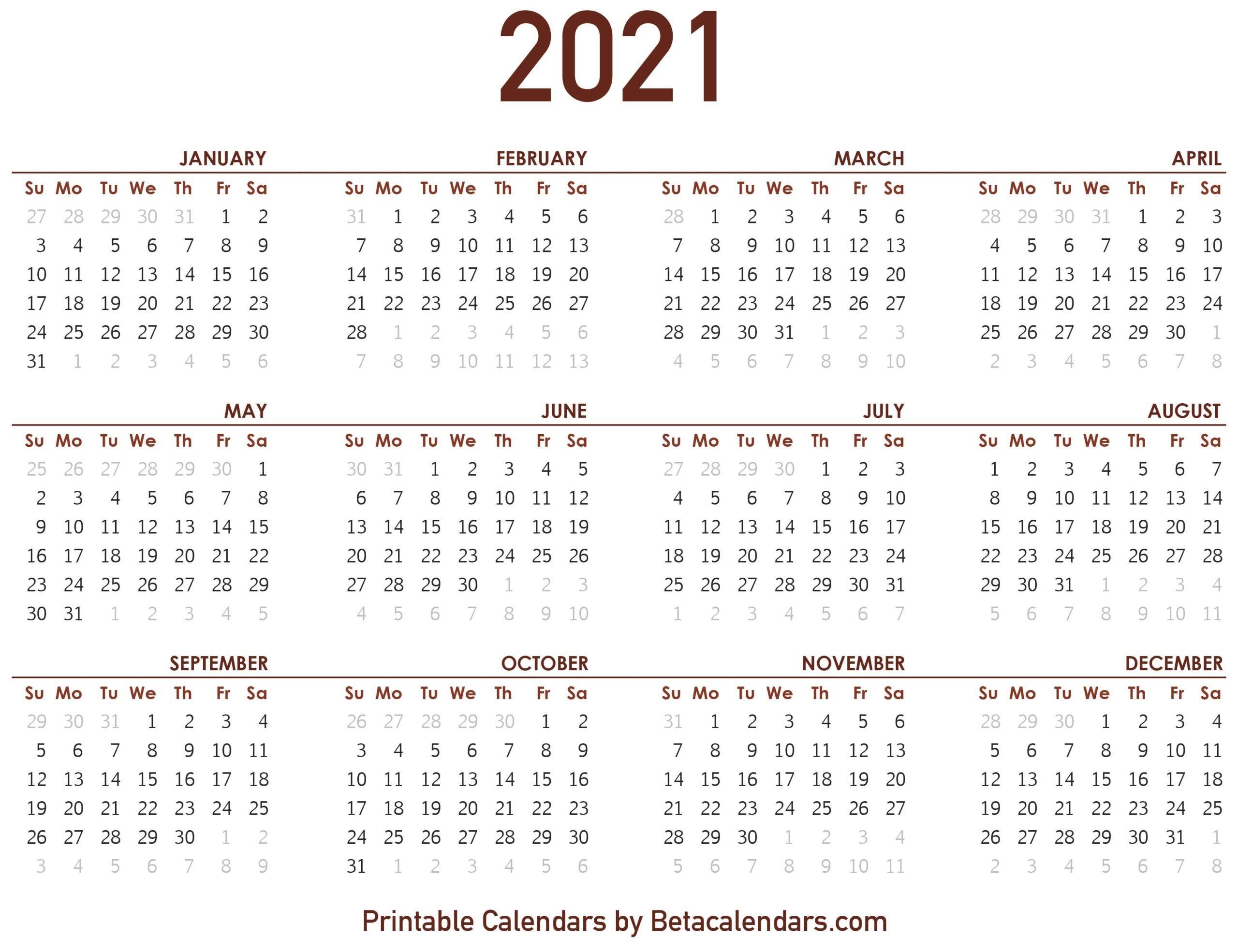 2021 calendar beta calendars