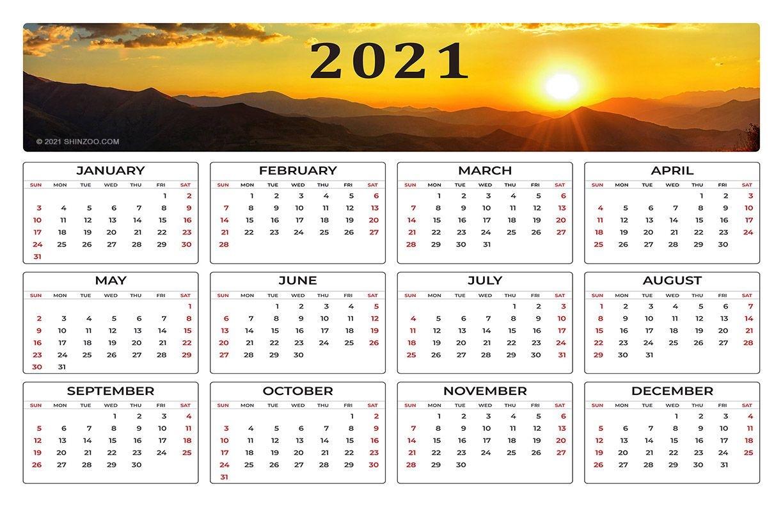 2021 Calendar Printable 11×17 Planner Template