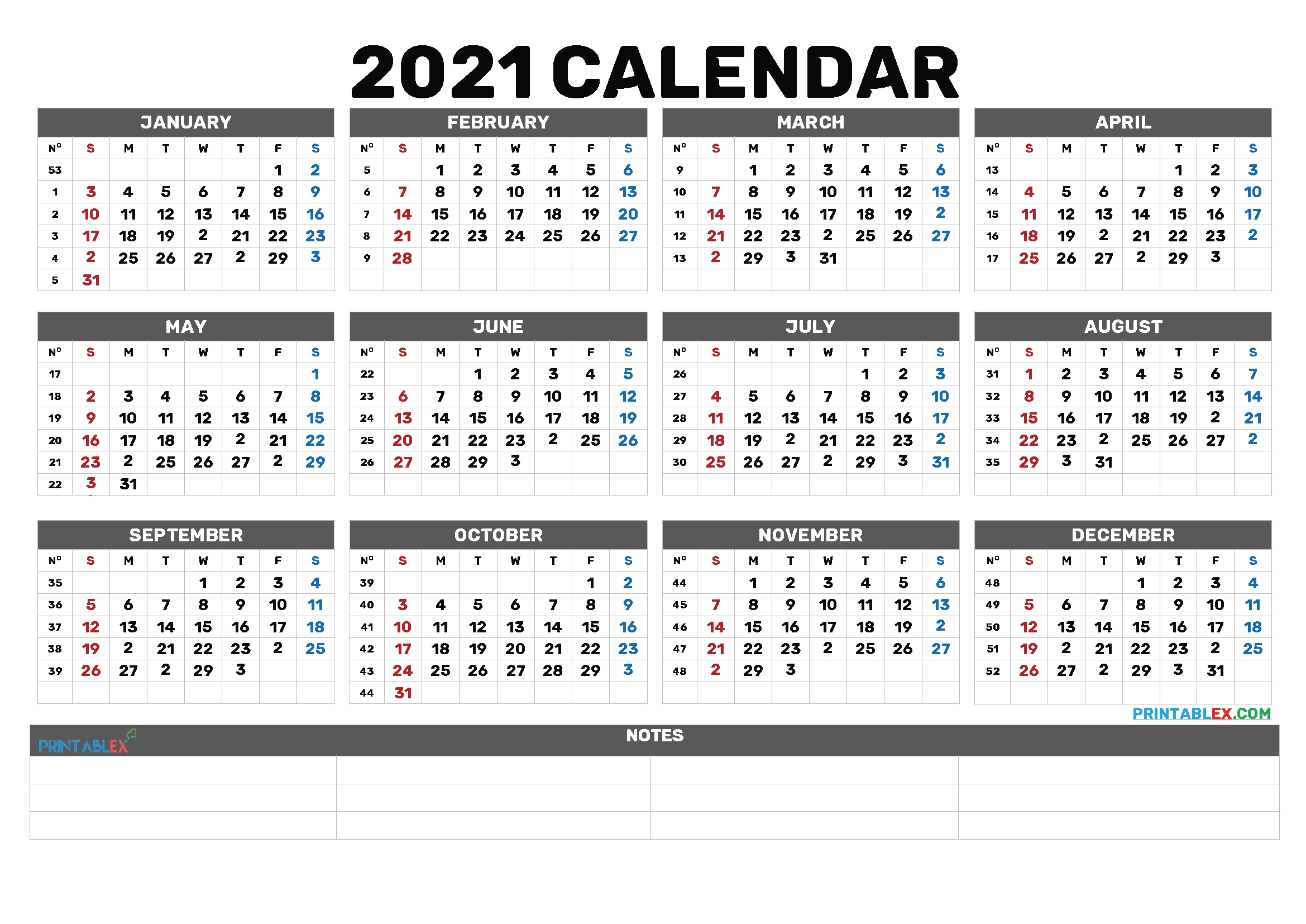 2021 Free Yearly Calendar Template Word – 6 Templates – Free