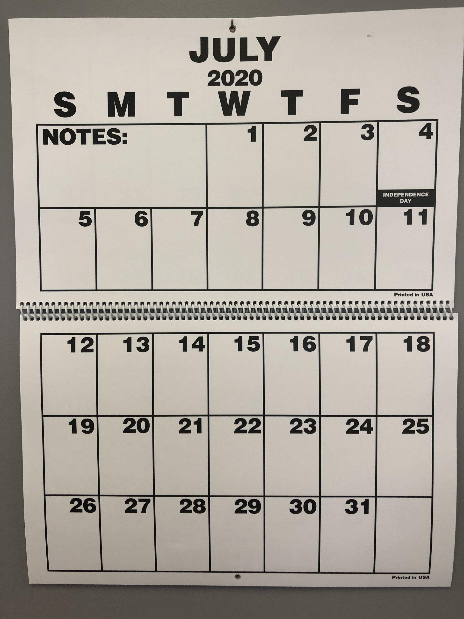 2021 Large Print 18 Month Calendar