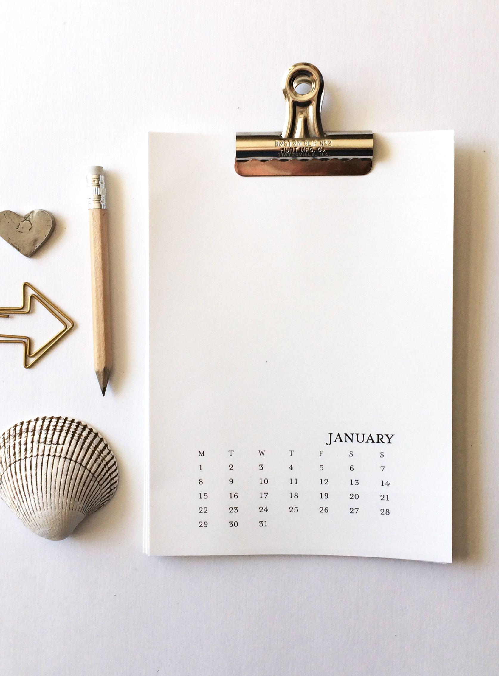 2021 Printable Calendar 5×7 Monday Sunday Printable Monthly