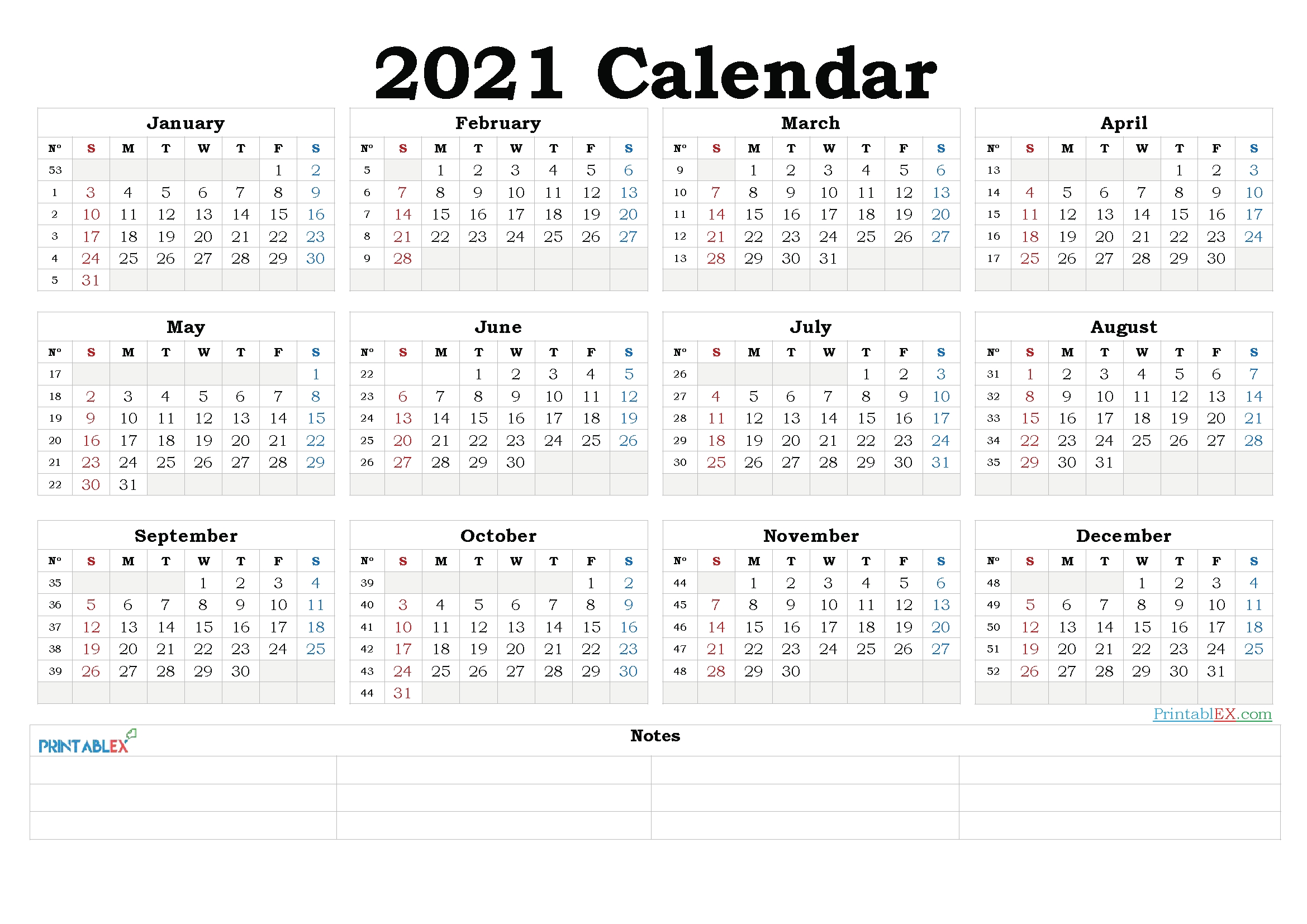 2021 yearly calendar template word – 21ytw185 – free