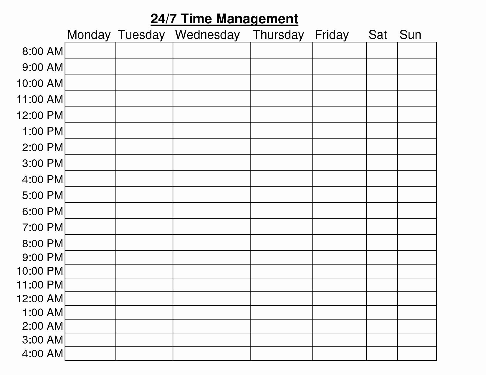 24 hour schedule template elegant 24 hour time management
