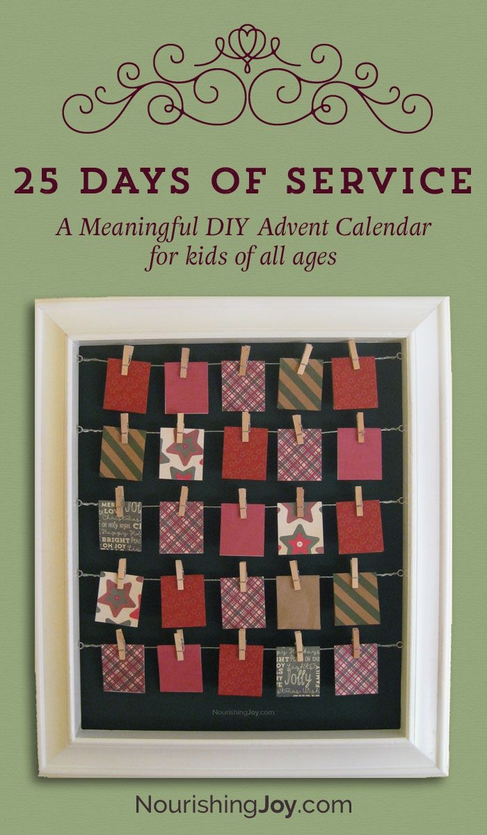 25 Days Of Service Advent Calendar • Nourishing Joy