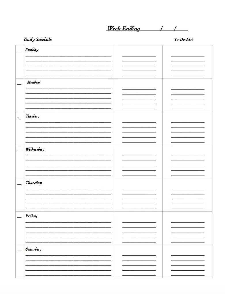 29 free weekly planner template printables for 2020