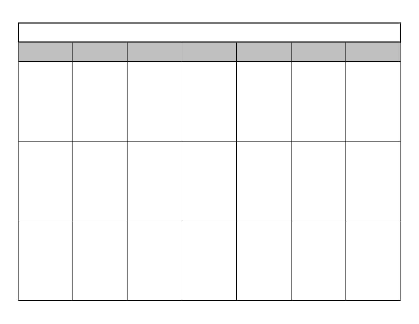 3 Week Calendar Grude Interpretomics Co Make It   Blank