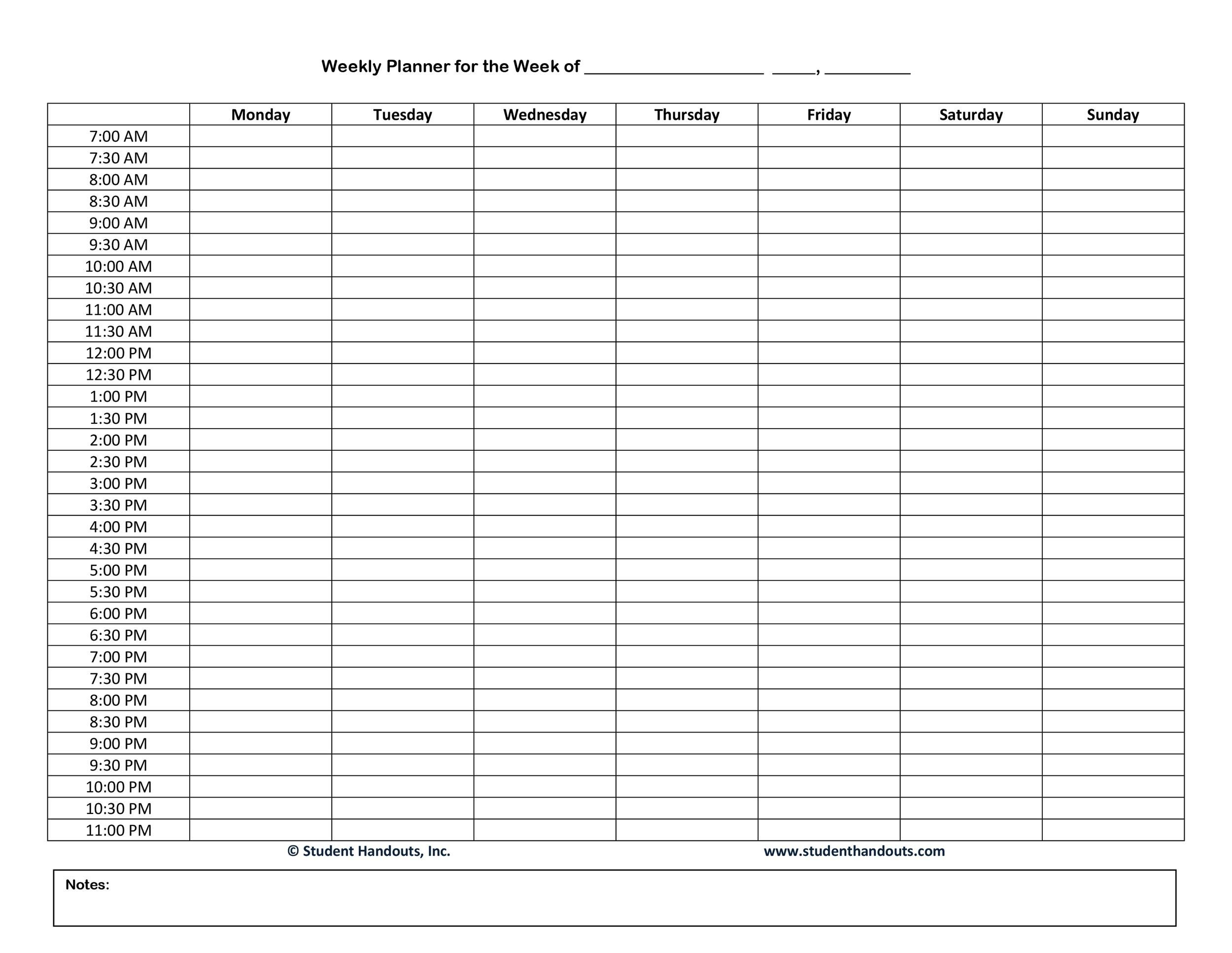 47 Printable Daily Planner Templates (free In Word/excel/pdf)