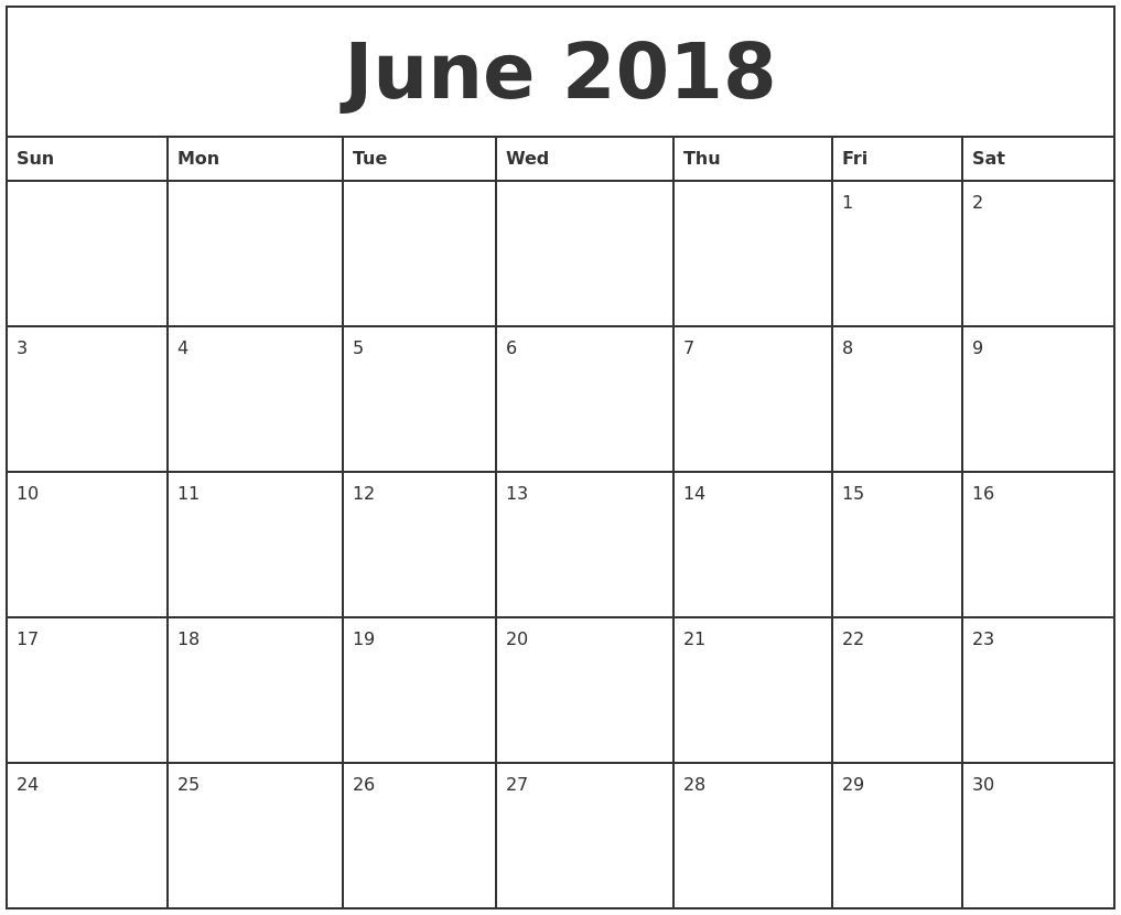 4×6 Blank Monthly Calendar Template | Blank Calendar