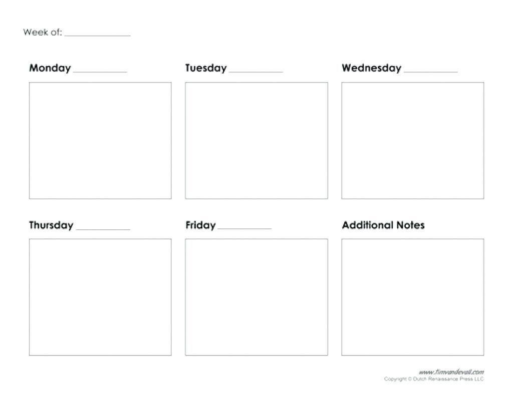 5 Day Calendar Printable Free | Blank Calendar Template Free