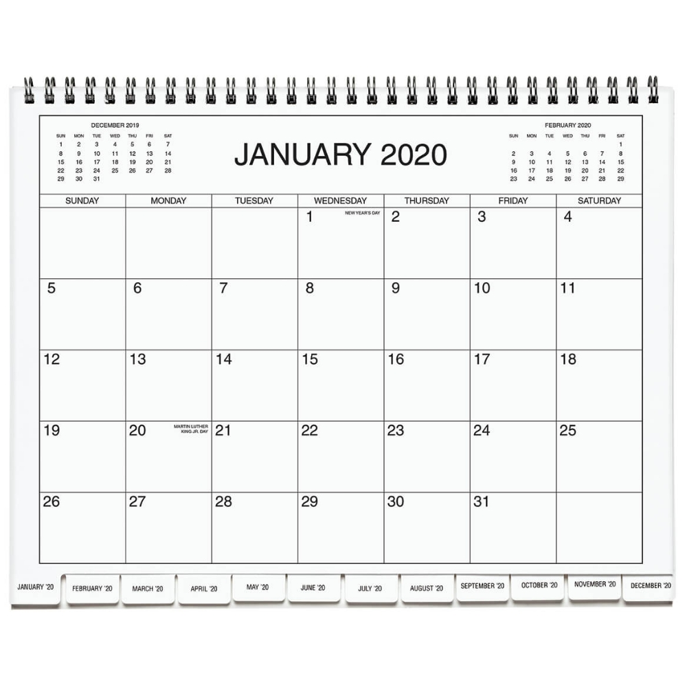 5 Year Calendar Diary 2020 2024 Blue Five Year Calendar