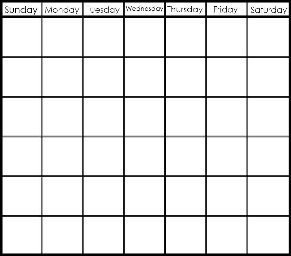 6 Week Blank Calendar Template | Blank Calendar Template