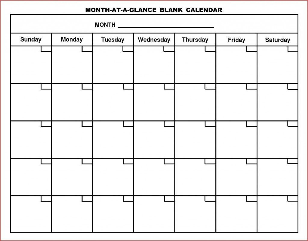 6 Week Blank Schedule Template In 2020 | Blank Monthly