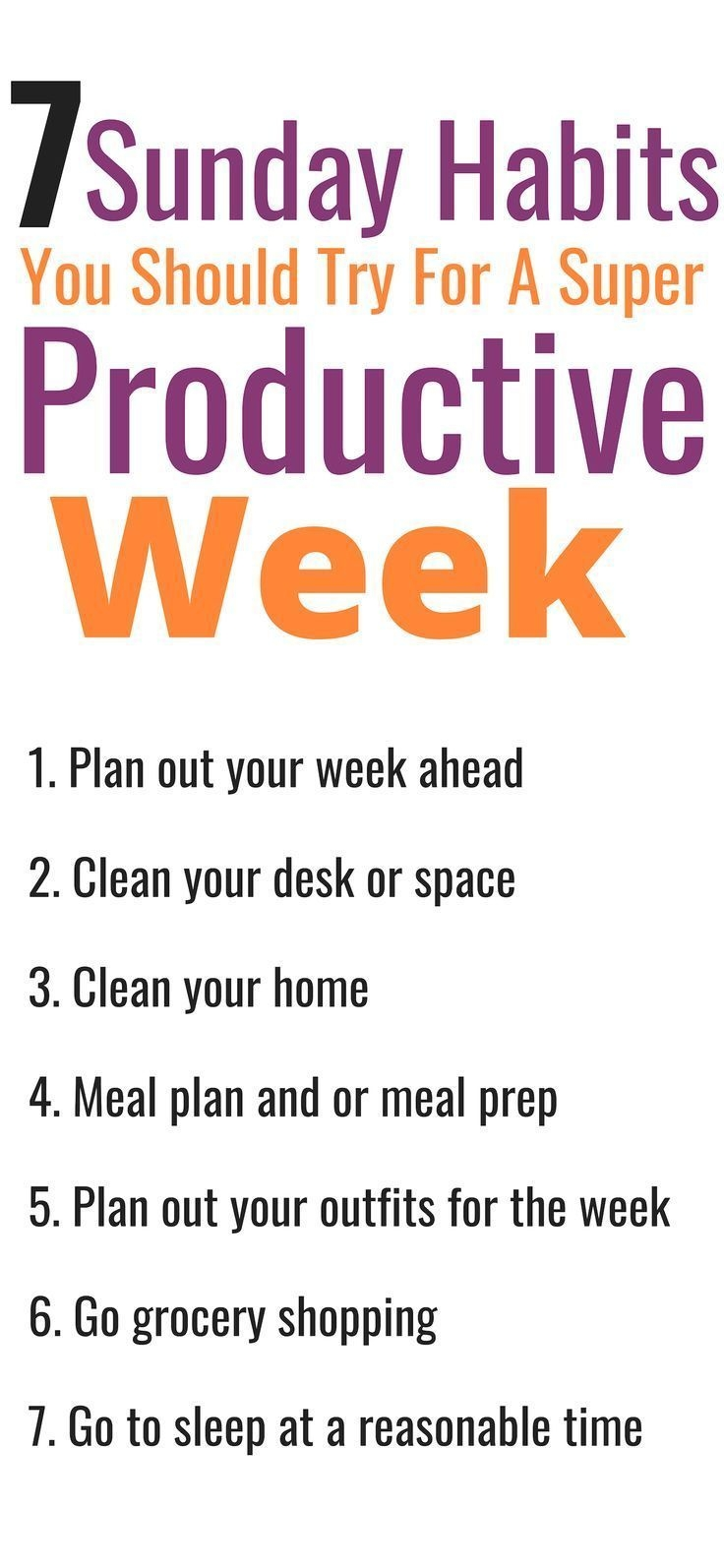 7 Sunday Habits For A Productive Week Meercai