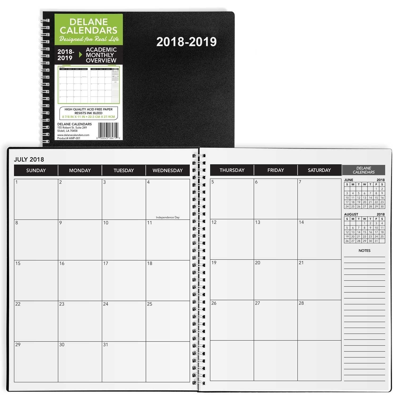 8 5 X 11 Monthly Calendar In 2020 | Monthly Calendar