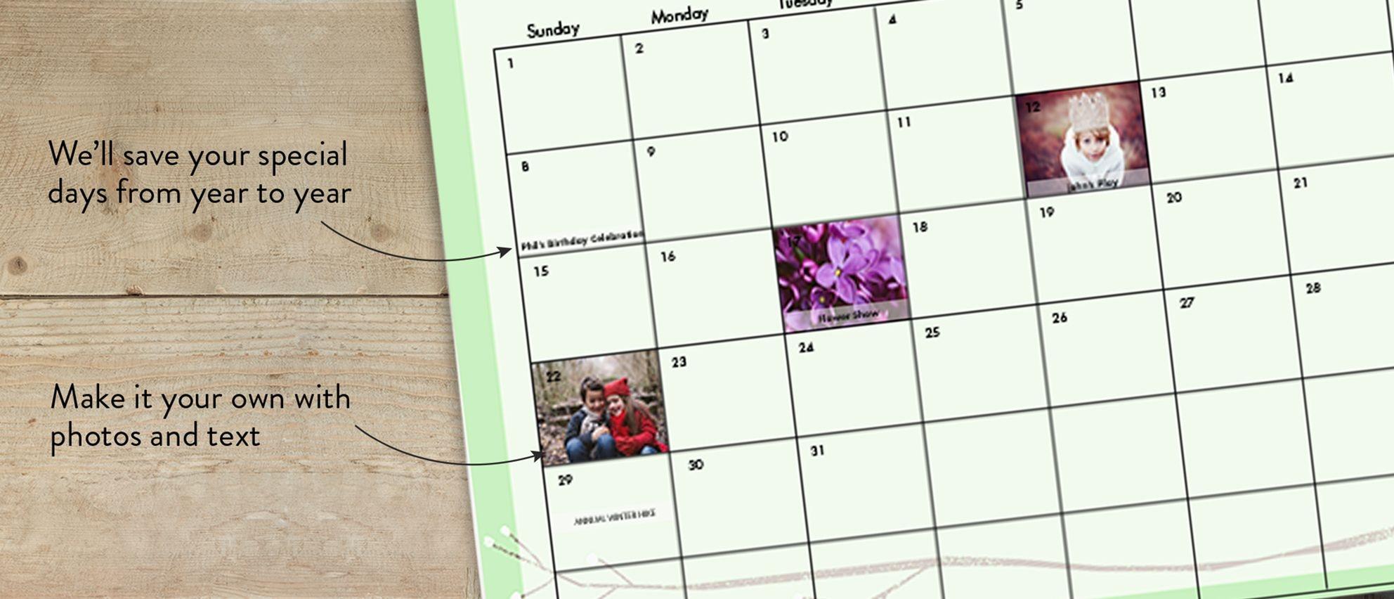 8 5×11 Wall Calendar