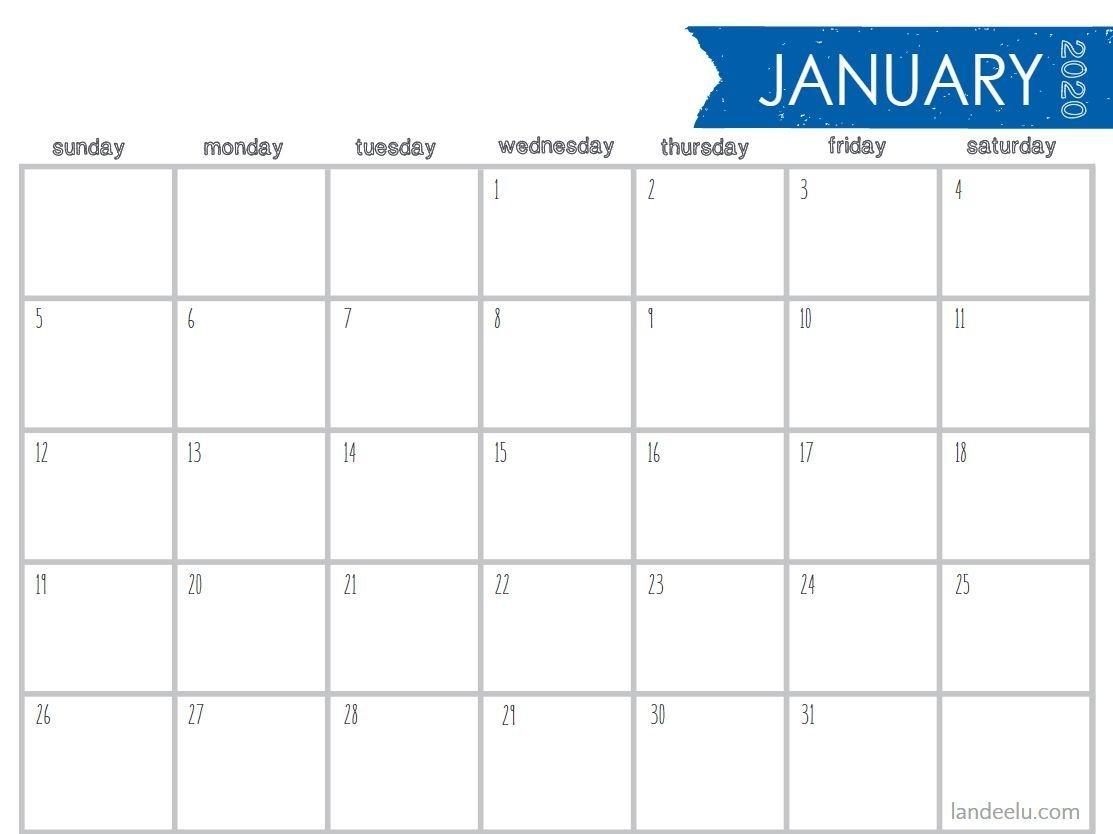 8 Stylish Free, Printable Calendars For 2020