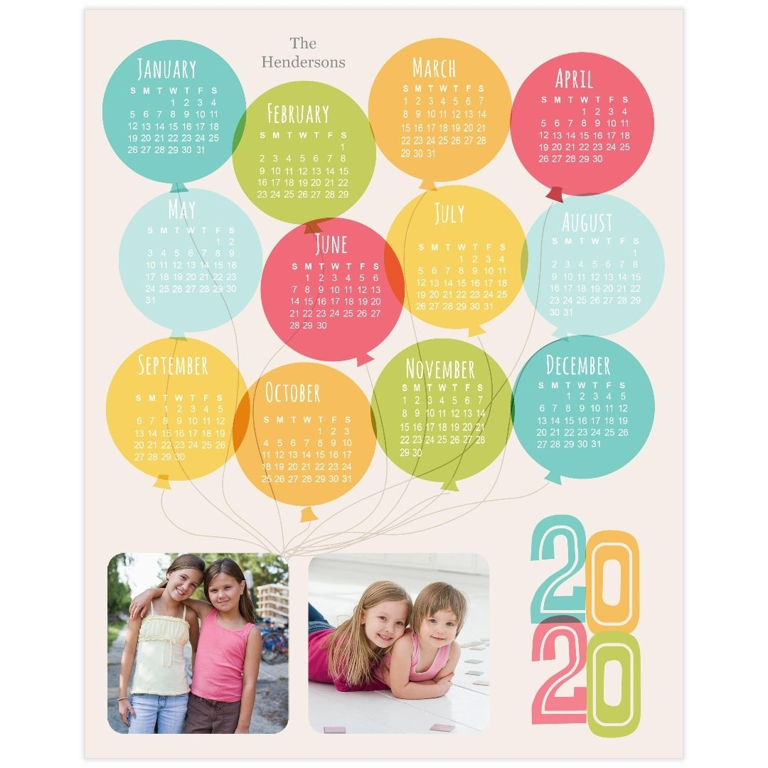 8x10 calendar border print, luster photo paper