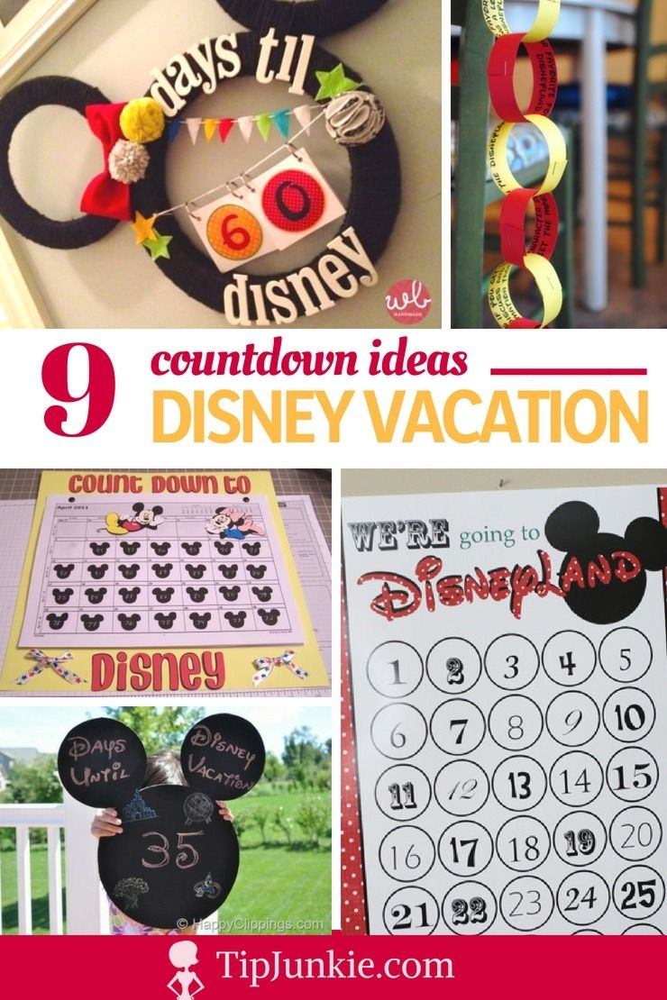 9 Disney Vacation Count Down Tutorials – Tip Junkie