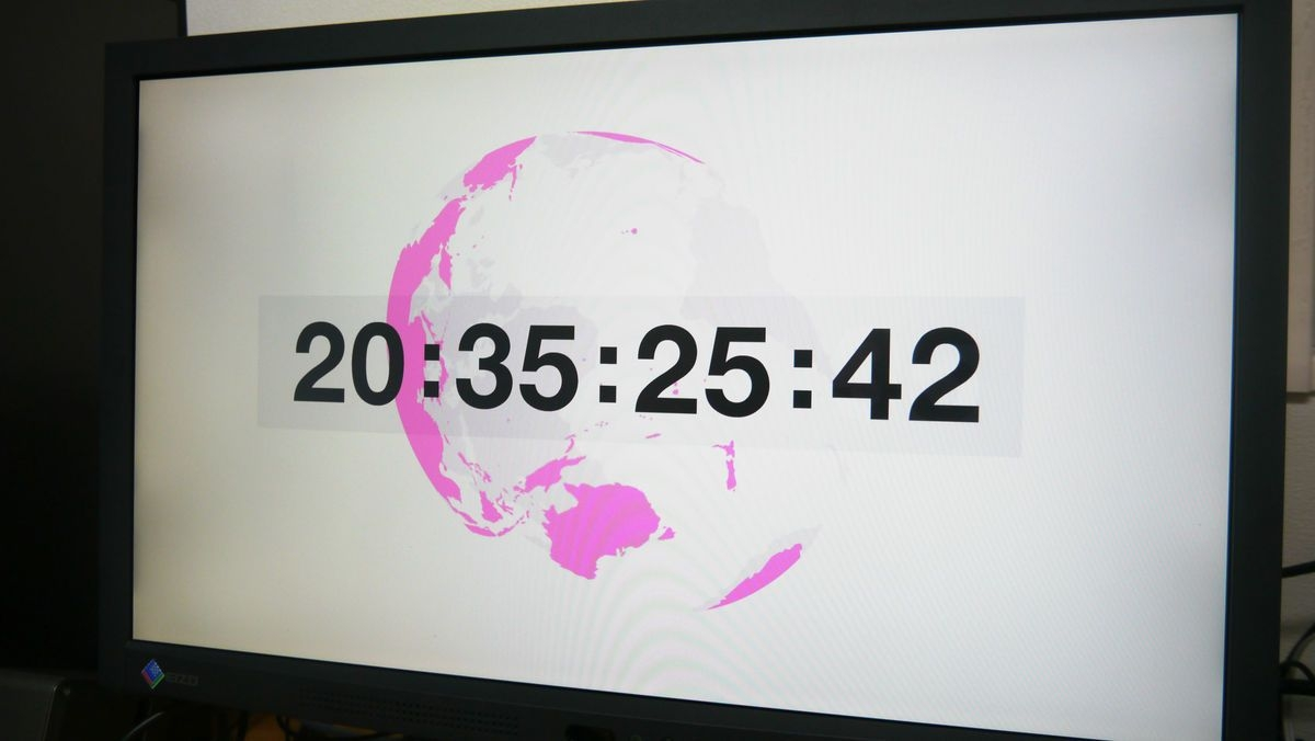 a screensaver that reproduces summer wars' s countdown like