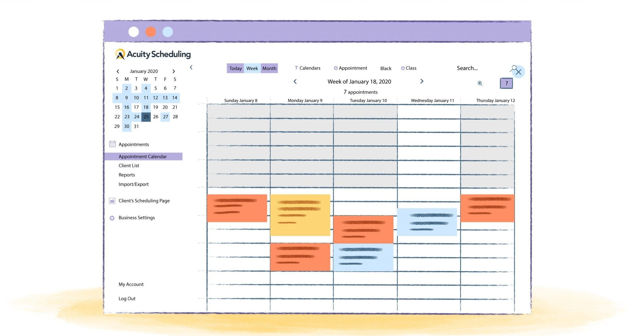 acuity scheduling guide calendar