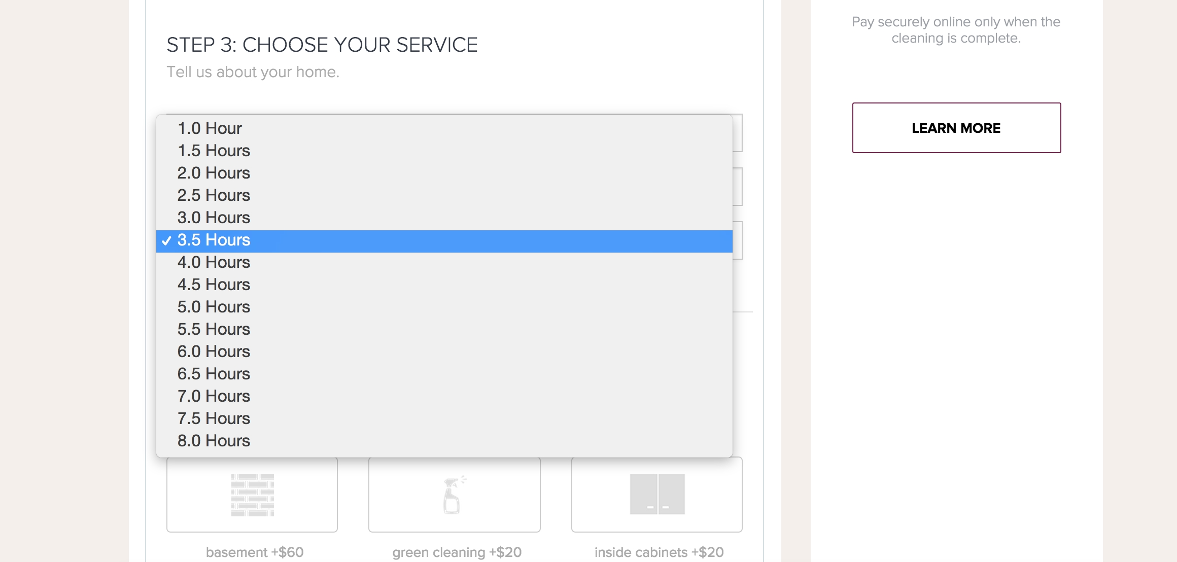 Add 30 Min Increments For Hourly Service   Launch27