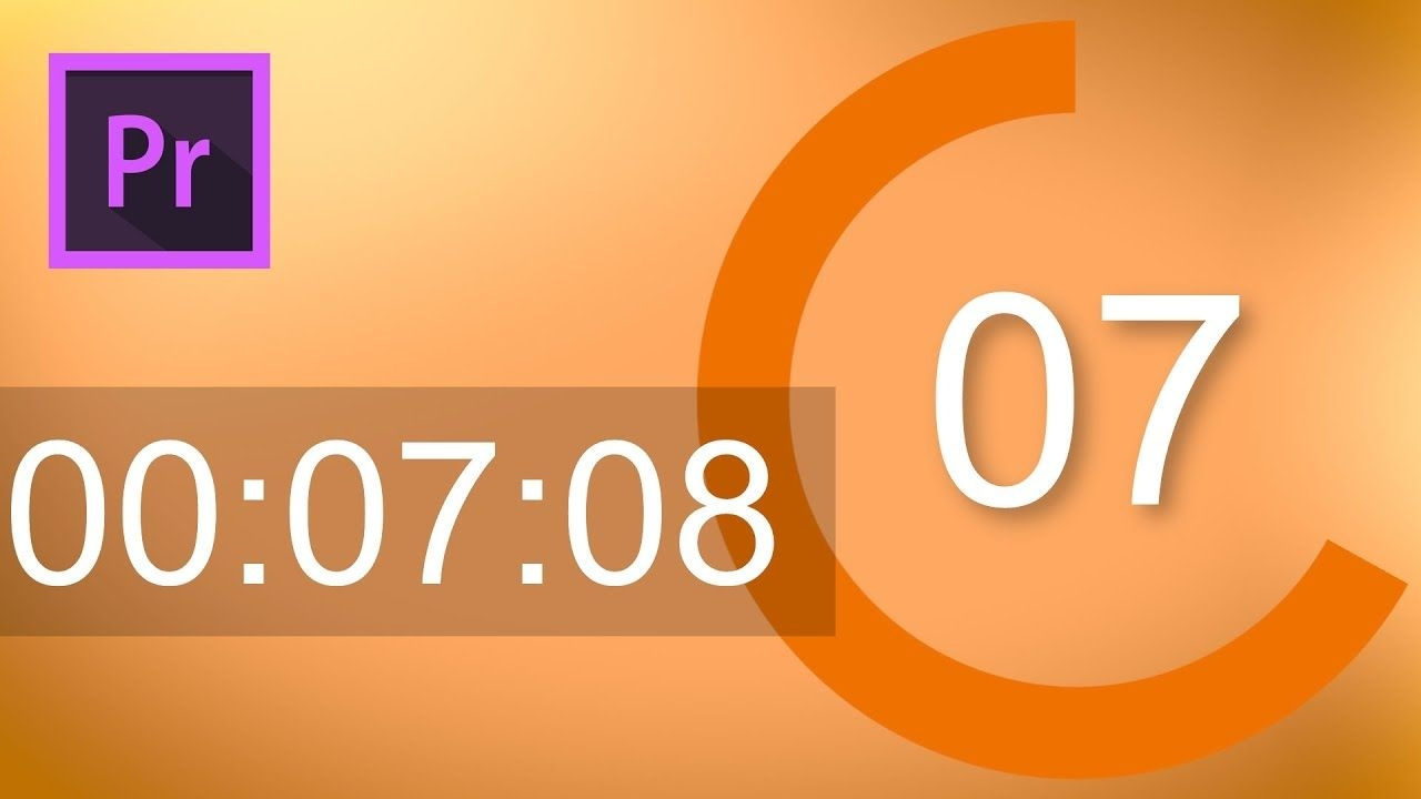Add An Animated Timer And Countdown To Your Videos In Adobe Premiere Pro