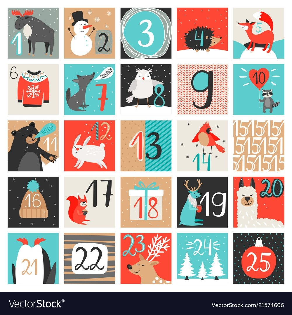 advent calendar december countdown calendar