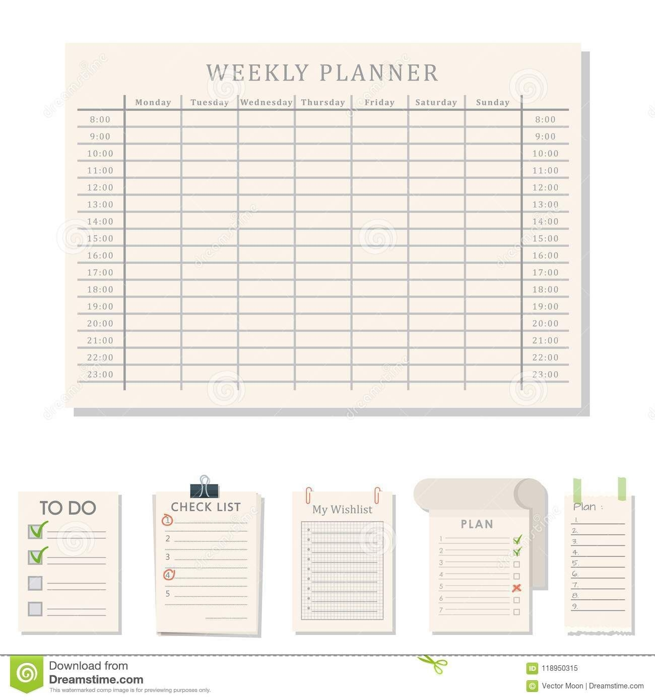 Agenda List Vector Business Paper Clipboard In Flat Style