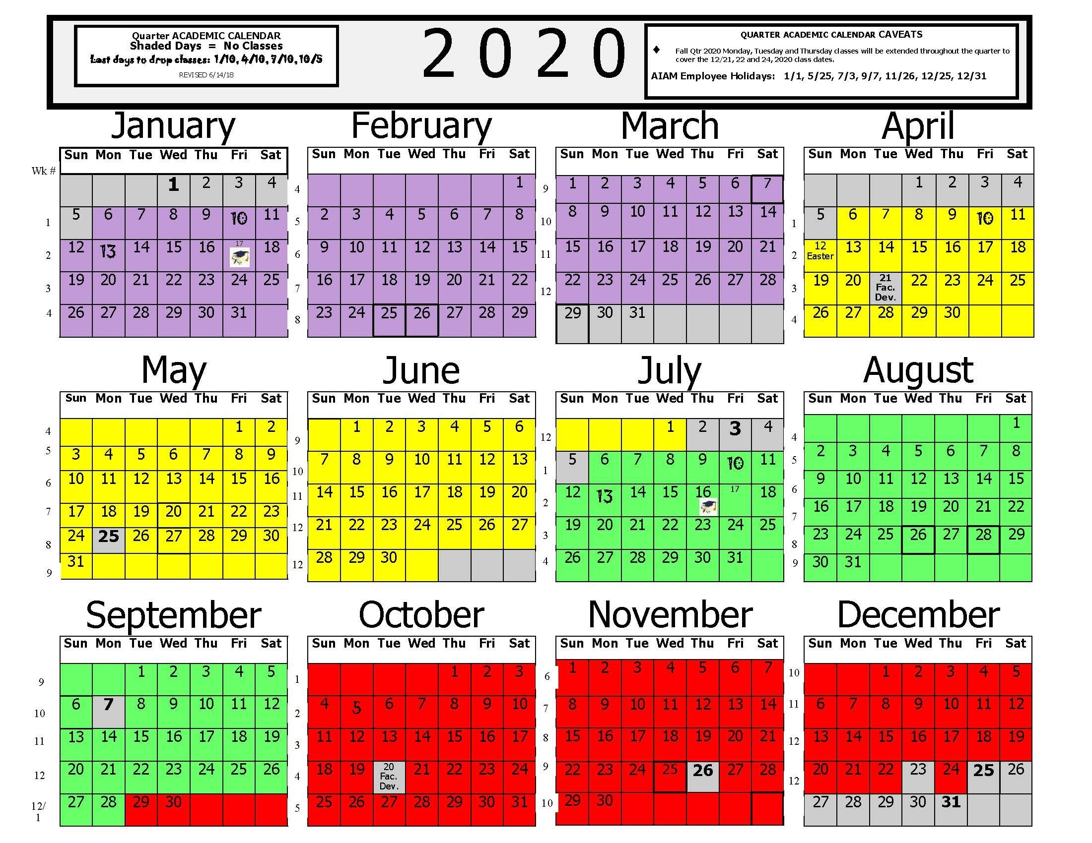 American Institute Of Alternative Medicine Academic Calander