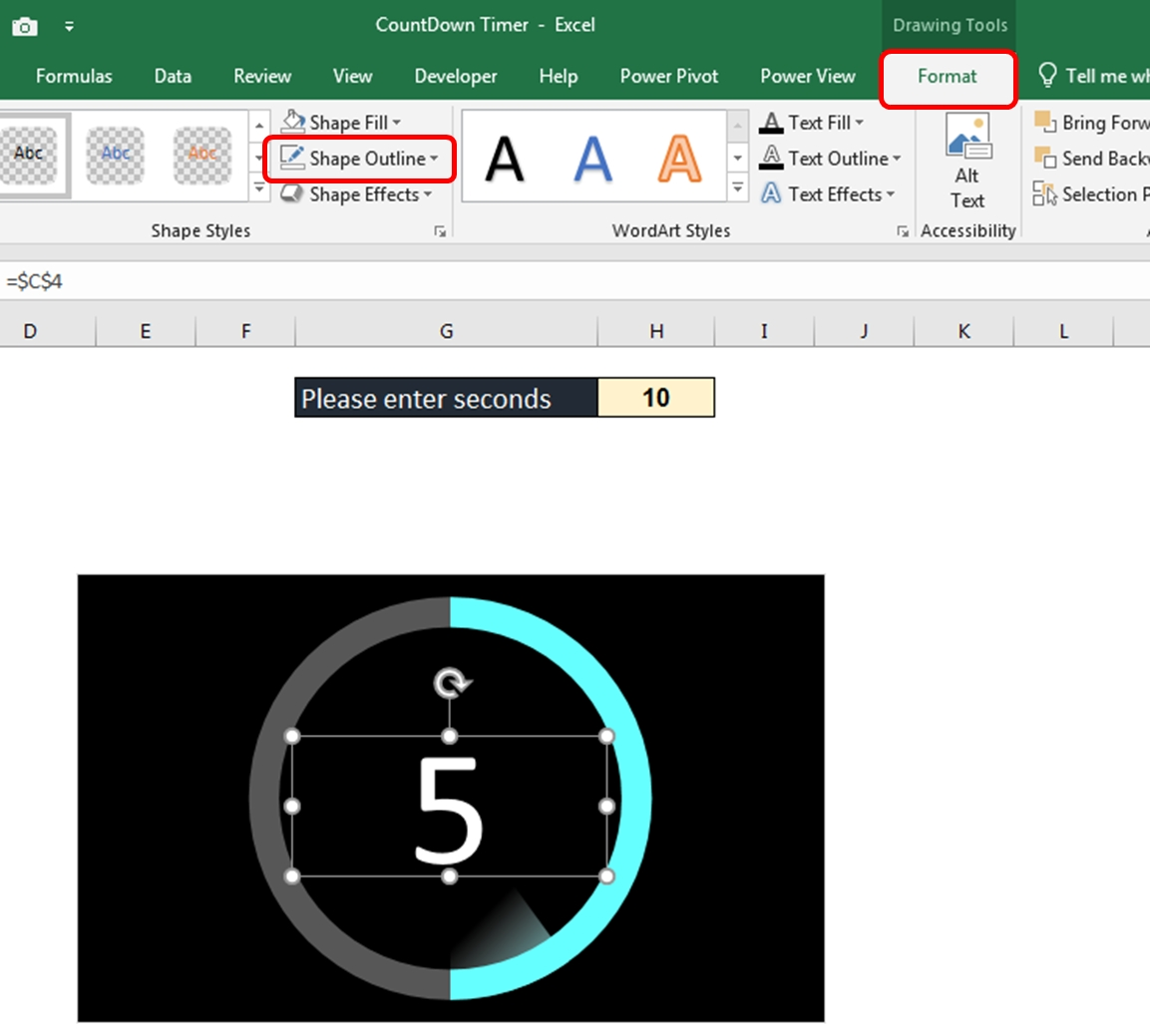 Animated Countdown Timer In Excel | Thedatalabs