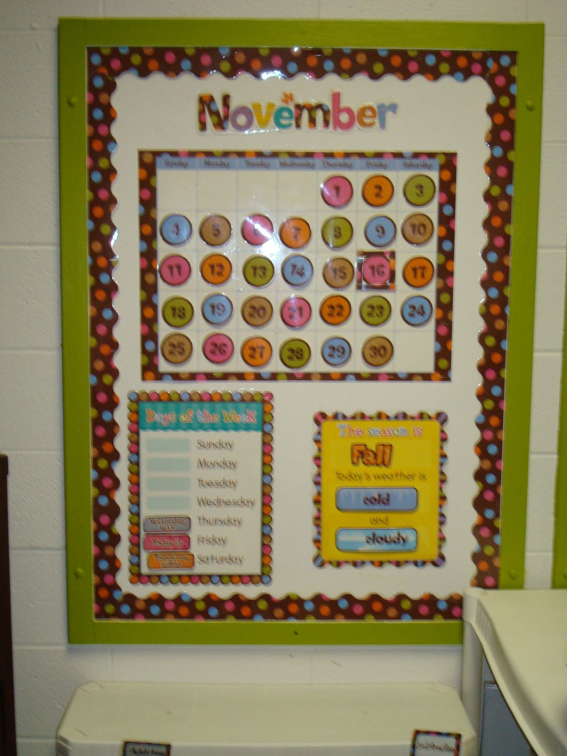 Another View Of The Calendar Bulletin Board | Calendar