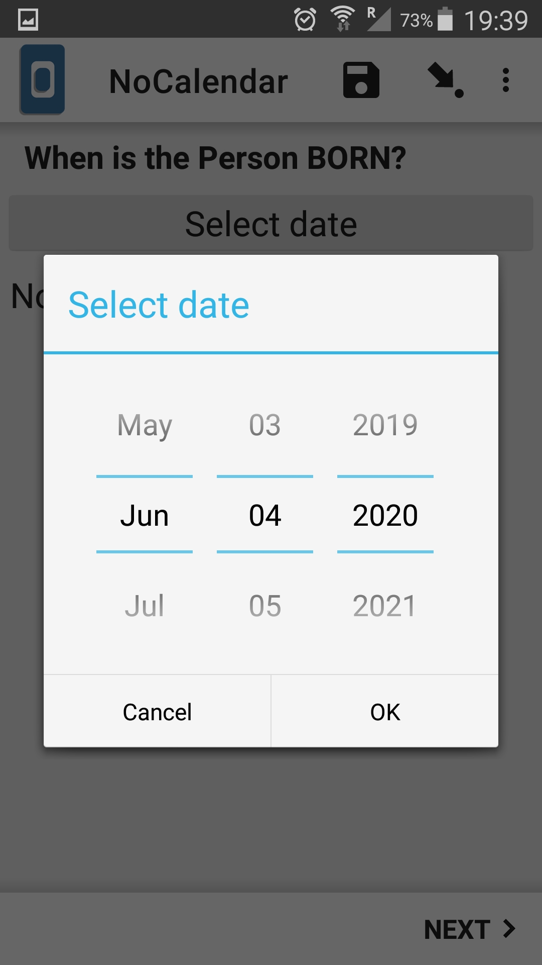 Appearance No Calendar For Date (kobocollect) Form